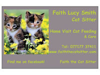 Faith the Cat Sitter - Trusted & recommended pet sitter, rest easy your cats will be in safe hands!