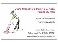 Dee's Domestic cleaning & Ironing areas around NG6