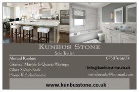 Granite, Marble & Qourtz kitchen worktops and Glass splash back supply and fit