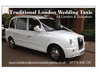 Traditional London Wedding Taxis