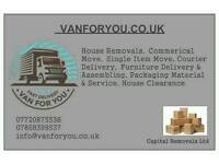 24/7 Man and van house office flat piano removals service rubbish collect furniture delivery UK