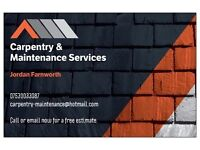 All types carpentry & maintenace services