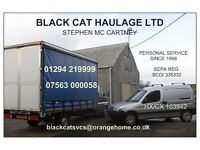 MAN & VAN FOR PALLET PARCEL PACKAGE COLLECTION DELIVERY HAULAGE ... AYRSHIRE