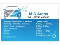 M.C Autos car body repair garage swindon