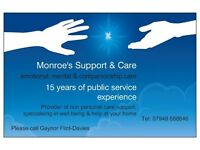 Home supporter/Emotional/companionship carer available
