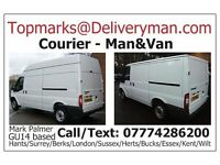 MAN & VAN HIRE Sofa Dresser Sideboard Table Bed Shabby Chic Corner Leather Oak Pine and NEXT Courier