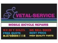 Mobile bicycle repairs