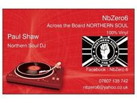 NORTHERN SOUL (Across the Board) Mobile DJ - Yorkshire and Humberside Regions
