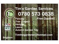 Tim's Garden services - Fencing, Tree sugery, Hedges, lawns, garden tidy, and more