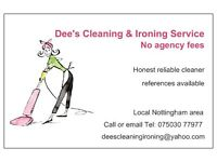 Dee's Domestic Cleaning & Ironing Service £10 per hour-Nottingham