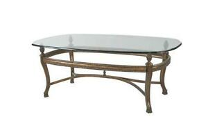 Charmant Antique Glass Coffee Table
