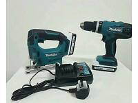 Brand new makita jigsaw and drill 2 batteries 1 charger brand new😮£125😮😮