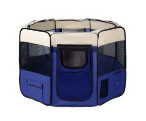 Brilliant Pet Exercise Playpen - Crate - Cage - Tent - Blue