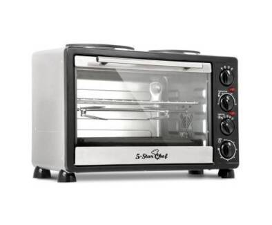 AUS FREE DEL-34L Benchtop Convection Oven with Twin Hot Plate