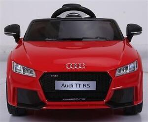 Licensed Audi TT RS 12V Child Ride On Car w Remote Doors Story Telling Music USB SD-Card Slot Audio Input Two Speed more