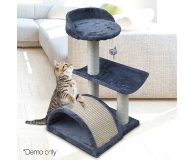 Your Cat or Kitten Will Love This - Cat Scratch Tree 60CM Grey