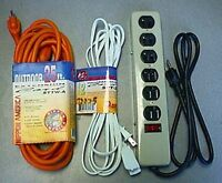 Light and Heavy Duty Extension Cords
