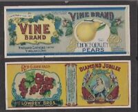 Advertising Paper Canning Labels Lowery Bros & Vineland