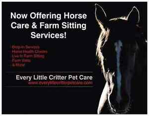 Horse Care and Farm Sitting Services