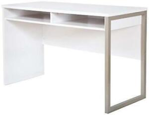 South Shore 7350070 Interface Contemporary Writing Desk - Pure White (Assembled)