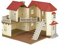 Sylvanian Families Beechwood Hall - Bargain £40 - Rarely Payed with (Boxed)