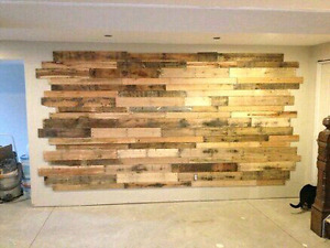 Palletwood planks reclaimed barnboard diy accent wall barnboard