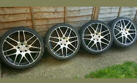 """20 """" Inch genuine Mercedes A b c e r s class Alloy Wheels diamond cut 5x112"""
