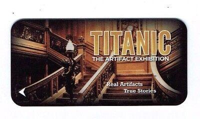 TITANIC LUXOR Room KEY LAS VEGAS Casino Hotel - GRAND STAIRCASE - Exhibit