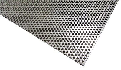 Perforated 304 Stainless Steel Sheet .030 Thick X 24 X 24 .250 Hole Dia.