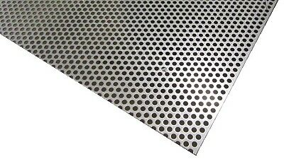Perforated 304 Stainless Steel Sheet .075 Thick X 36 X 40 .250 Hole Dia.