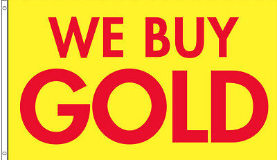 3x5 Ft We Buy Gold Flag Banner Advertising Business Sign - Yb