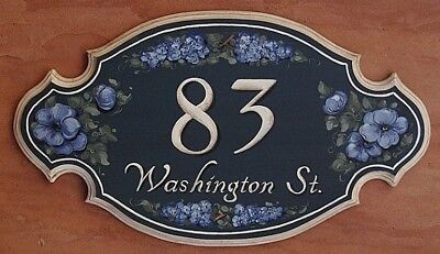 (Personalized House Plaque, Custom Address Sign Scalloped - House Warming Gift)