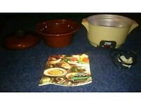 Retro 70's Tower Deluxe Family Slo Cooker Brown Gloss Crock Pot