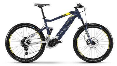 """Haibike SDURO FullSeven 7.0 27,5"""" RH52 E-Bike Bosch 500Wh blau/citron/s. m 18"""