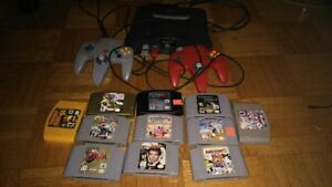 N64 Console plus video games