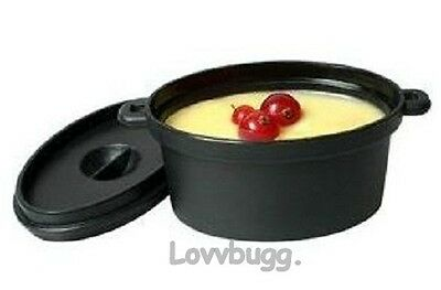 "Lovvbugg Mini Casserole Dish for 18"" American Girl Doll Food Accessory"