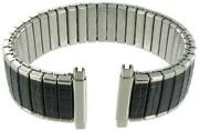 22mm Black Stainless Steel Watch Band