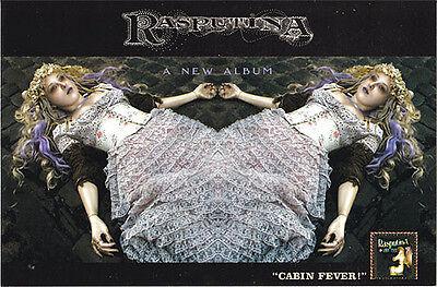 Rasputina Cabin Fever RARE promo postcard / sticker
