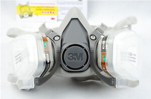 For 3M 6200 6001 7pcs Suit Respirator Painting Spraying Face Gas Mask 5N11 501