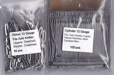 150 BRAND NEW SOCK KNITTING MACHINE NEEDLES!! Auto Knitter, Legare, Creelman Bro