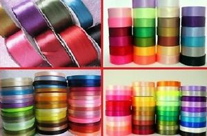 Satin-Ribbon-Best-Quality-Cut-Lengths-3mm-6mm-12mm-24mm-Christmas-Gift-Craft