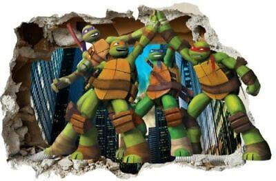 Teenage Mutant Ninja Turtles TMNT STICKER 3D Wandaufkleber Wandtattoo NEU XL 161 ()