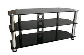 """Tv stand black glass 32"""" to 60"""""""