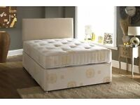 100% Cheapest Price. Double Divan Bed Base With Deep Quilt Mattress. Same Day, Free London Delivery