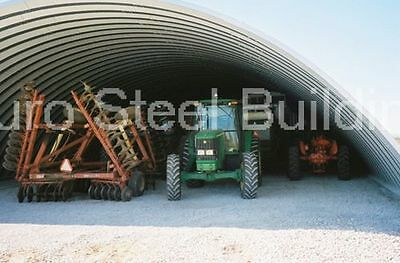 Durospan Steel 42x60x15 Metal Quonset Machine Shed Building Kit Open Ends Direct