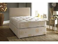 ==WOW OFFER== BRAND NEW DOUBLE DIVAN BED BASE WITH SEMI ORTHOPEDIC MATTRESS