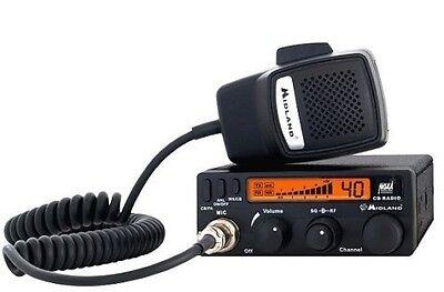 Midland 1001LWX 40 Channel 4W 4 Watt Mobile CB Radio + Weather