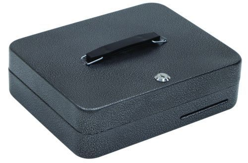 Hercules CB1209 Key Locking Cash Box with 9 Compartment Tray