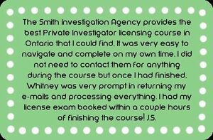 Private Investigator Training Course- With Jobs @ $2,200 Weekly Cambridge Kitchener Area image 7