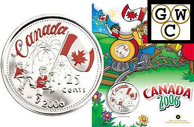 2006 Canada Day Colorized 25Ct  With 4 Crayons   11914